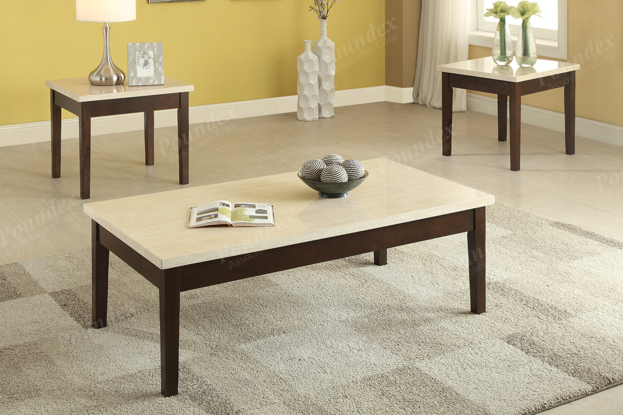 marble top end tables. 3PC Sleek Cream Faux Marble Top Coffee Table \u0026 End Set Tables