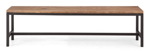 98320 Colby Bench Distressed Natural 816226027383 Seating Modern Distressed Natural Bench by  Zuo Modern Kassa Mall Houston, Texas Best Design Furniture Store Serving Houston, The Woodlands, Katy, Sugar Land, Humble, Spring Branch and Conroe