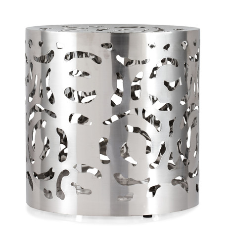 401181 Kihei Stool Stainless Steel 816226020902 Seating Modern Stainless Steel Stool by  Zuo Modern Kassa Mall Houston, Texas Best Design Furniture Store Serving Houston, The Woodlands, Katy, Sugar Land, Humble, Spring Branch and Conroe