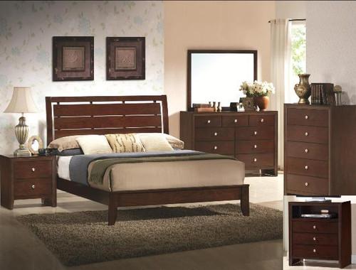Evan Cherry Bed Frame