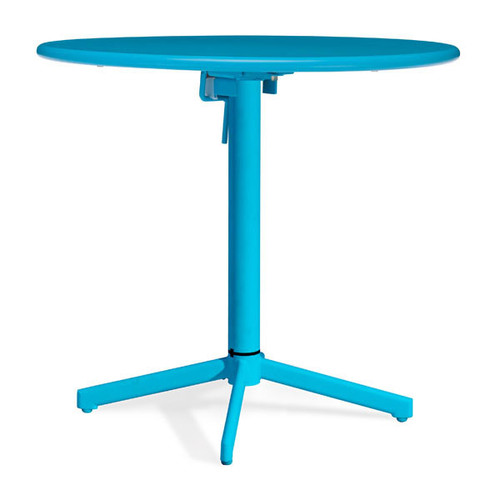 703048 Big Wave Round Folding Table Aqua 816226022937 Special Material Modern Aqua Round Folding Table by  Zuo Modern Kassa Mall Houston, Texas Best Design Furniture Store Serving Houston, The Woodlands, Katy, Sugar Land, Humble, Spring Branch and Conroe
