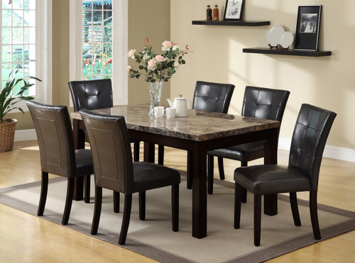 Bruce Dining Table Top with 4 Side Chairs