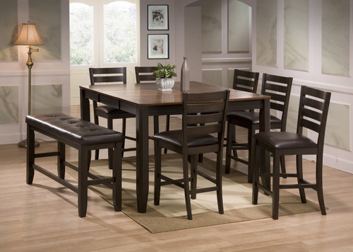 ELLIOTT COUNTER HEIGHT DINING TABLE TOP 5 Piece Set