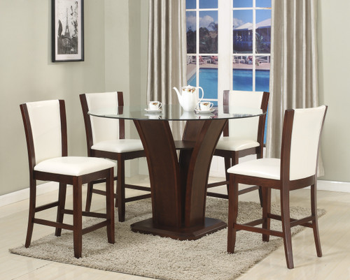 Camelia Dining Table Top with 4 Side Chairs