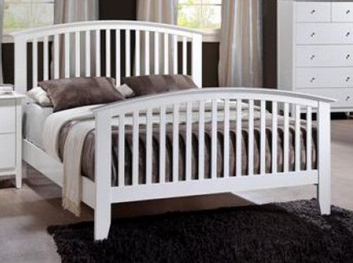 Lawson ( White ) Queen Size Bed.