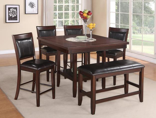 FULTON COUNTER HEIGHT DINING TABLE TOP 5 Piece Set