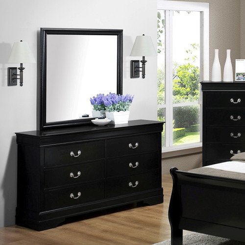Louis Phillip Dresser and Mirror  Four Colors Available