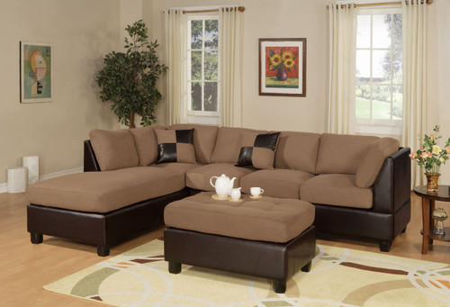 3 PCS REVERSIBLE SADDLE SECTIONAL SET