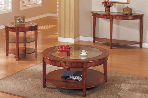 ALEXANDER ESPRESSO WOOD TOP COFFEE TABLE