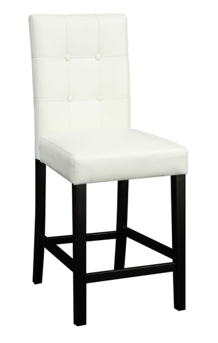 SET OF 2 HIGH CHAIR/FAUX LEATHER-CREAM
