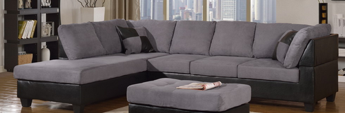 Sectional Chaise Gray