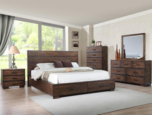CRANSTON WOODEN STORAGE COLLECTION BED