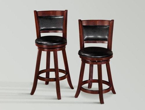 CECIL SWIVEL BAR OR PUB STOOL (SET OF 2)