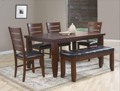 BARDSTOWN VENEER DINING TABLE TOP 5 Piece Set