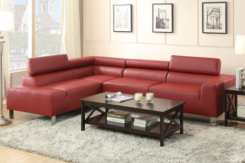 SECTIONAL BDL BURGUNDY