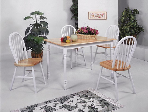 FARMHOUSE WHiITE 5 PCS DINING SET