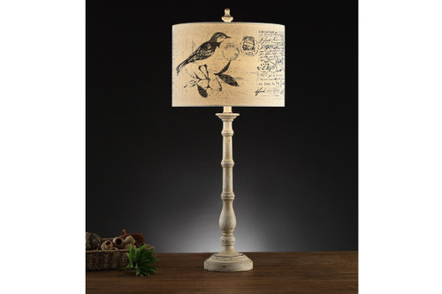 "SLIM BASE AND PICTURESQUE SHADE TABLE LAMP 33"" H (2 LAMPS)"