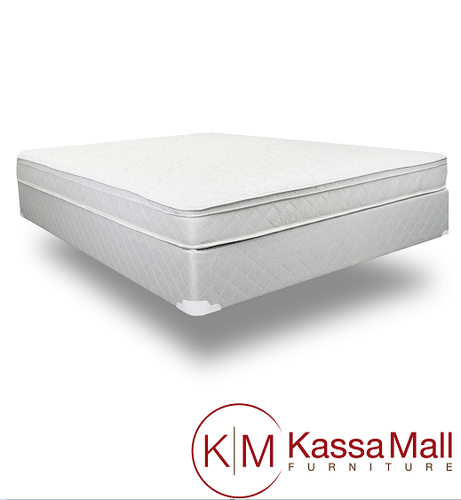 BLACK SLEIGH BED FRAME MATTRESS AND BOXSPRING