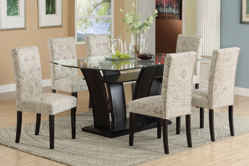 5-PCS FUTURISTIC STYLE FORMAL DINING ROOM SET