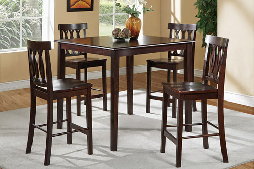 5-PCS LEAFLET ACCENTS BROWN COUNTER HEIGHT SET