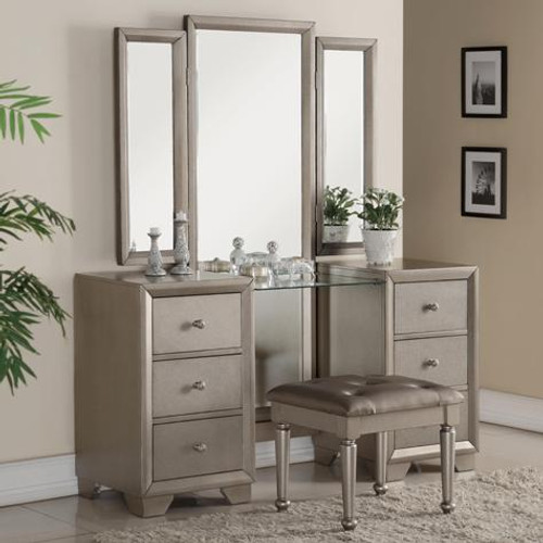 FONTAINE VANITY DRESSER SET WITH STOOL - B1700-V