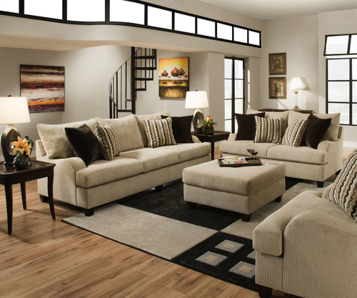 SIMMONS SECTIONAL SOFA (TRINIDAD) - 8520