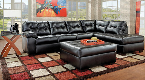 2PC SIMMONS SECTIONAL SOFA (ONYX)