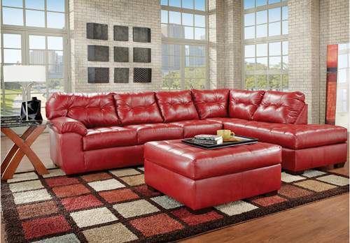 2PC SIMMONS SECTIONAL SOFA  (CARDINAL)