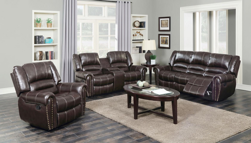 LEXINGTON 3PC MOTION LIVING ROOM (NAILHEAD)