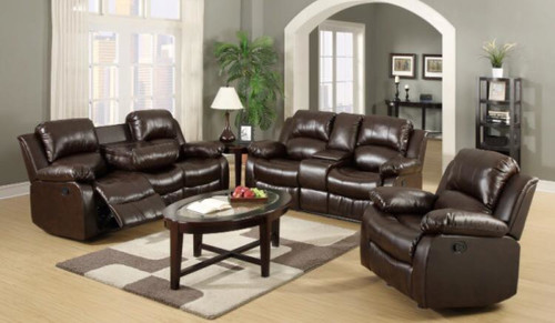 GAVIN 2PC MOTION LIVING ROOM SET (BROWN)