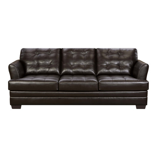 SIMMONS MANHATTAN QUEEN SLEEPER SOFA (ESPRESSO)