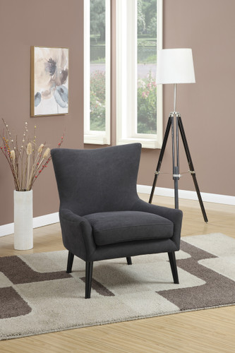 ACCENT CHAIR IN DEMIN CHARCOAL COLOR