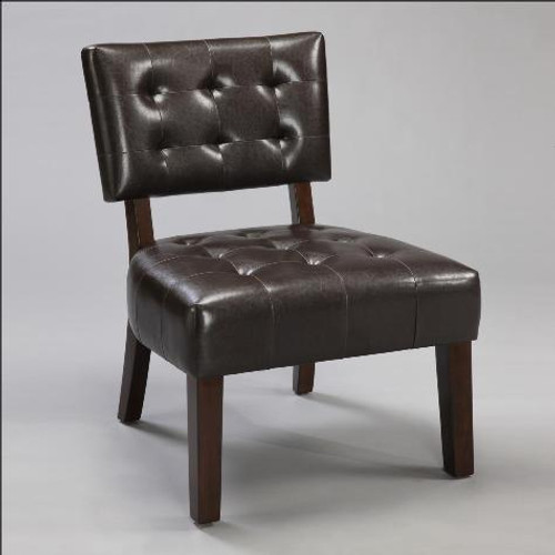 ESPRESSO BEVERLY ACCENT CHAIR - 4984-ESP