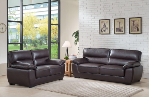 JORDAN 2PC SOFA AND LOVESEAT IN BROWN
