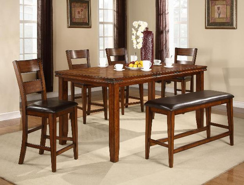 FIGARO COUNTER HEIGHT DINING TABLE TOP 5 Piece Set