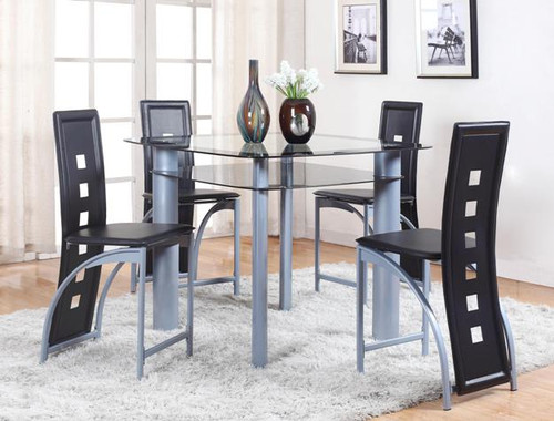 ECHO COUNTER HEIGHT DINING TABLE TOP 5 PIECE SET