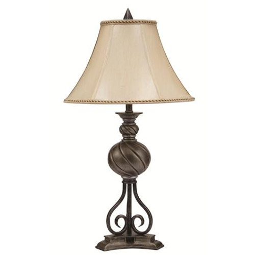 SWIRL BALL LAMP WITH OUTLET (SET OF 2)