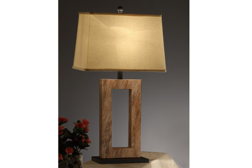 TABLE LAMP WITH MARBLE FINISHED SURFACE SET OF 2