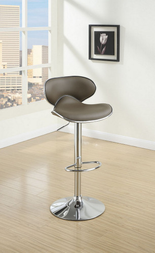 ESPRESSO LEATHER 2 PIECES BAR STOOL