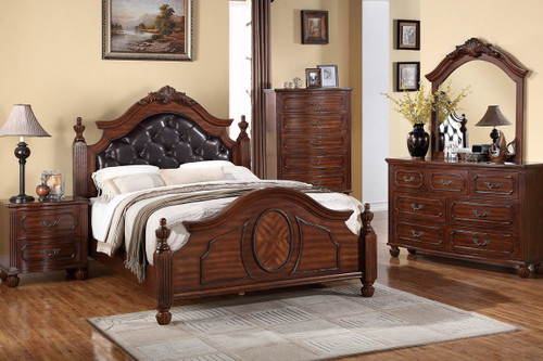 EDWARD BED  IN NATURAL CHERRY WOOD FINISH