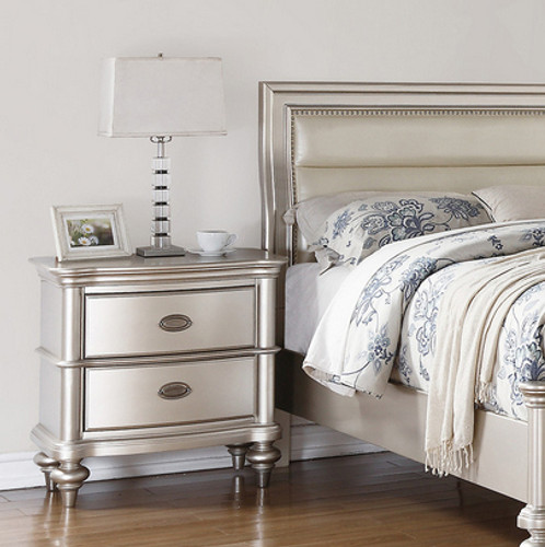 SILVER GLAM NIGHT STAND
