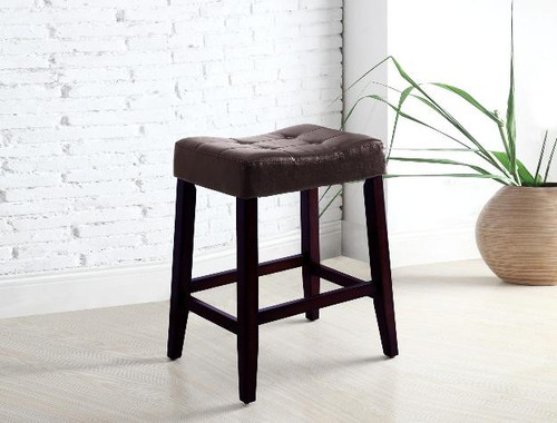 KENT SADDLE CHAIR 24  ESPRESSO (SET OF 2)