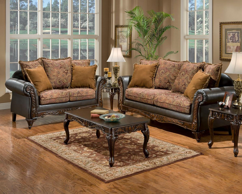 2PC Silas Sofa and Loveseat Set
