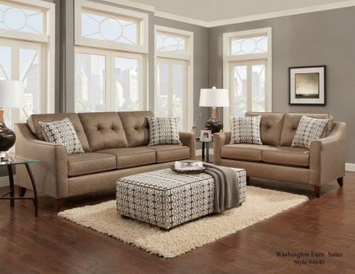 2PC WASHINGTON Sofa and Loveseat Set (OATMEAL)