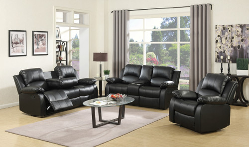 GAVIN 2PC MOTION LIVING ROOM SET (BLACK)