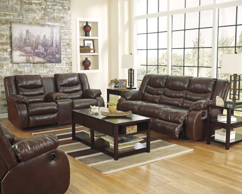 2PC Ashley Sofa and Loveseat (ESPRESSO)