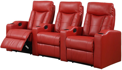 3PC MADISON SQUARE HOME THEATER (RED)