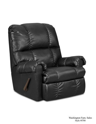 Denver Black Vinyl Rocker Recliner
