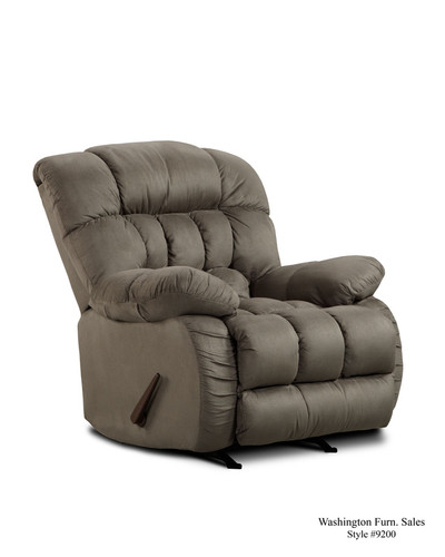 Graphite Plush Rocker Recliner