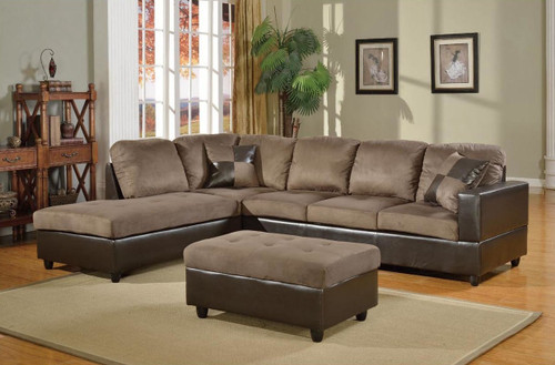 2 PCS MASON GREEN SECTIONAL WITH ACCENT PILLOWS (RIGHT FACING SOFA)